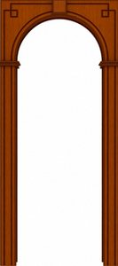Классика арка шпон
