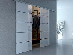 Раздвижная система стеклянных дверей (2 полотна)