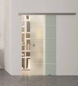 Раздвижная система стеклянных дверей (1 полотно)