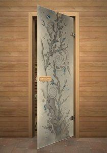 Коралл 2 стеклянная дверь для сауны