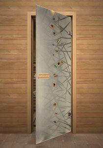 Лед стеклянная дверь для сауны