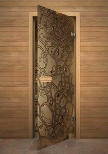 Панцирь стеклянная дверь для сауны с фьюзингом