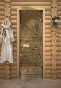 Подледный лов стеклянная дверь для сауны
