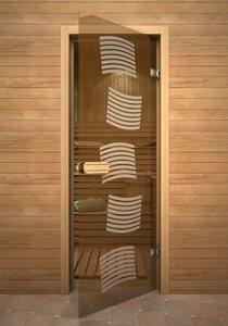 Модерн стеклянная дверь для сауны