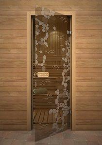 Ручей стеклянная дверь для сауны