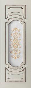 дверь Сицилия ПО остекленная эмаль с патиной