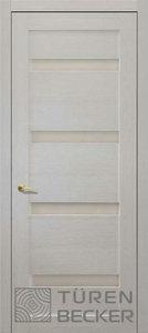 Дверь 13.09 Тора экошпон лиственница белая остекленная