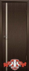 Дверь 8ДОУ4 Рондо триплекс шпонированная темный венге остекленная