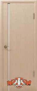 Дверь 8ДОУ5 Рондо триплекс шпонированная беленый дуб остекленная