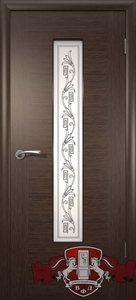 дверь 8ДО4 Рондо шпонированная темный венге остекленная