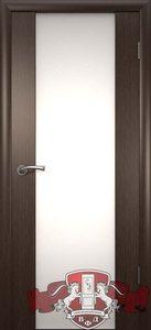 дверь 8ДО4 Рондо триплекс шпонированная темный венге остекленная