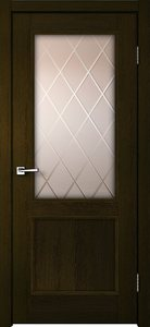 Дверь CLASSICO 2V мокка остекленная