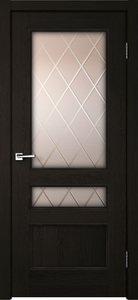 Дверь CLASSICO 3V дуб черный остекленная