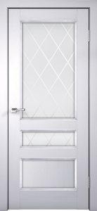 Дверь CLASSICO 3V ясень белый остекленная