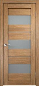 Дверь Duplex 12 дуб золотой остекленная