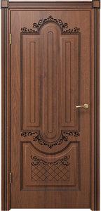 Дверь Олимпия дуб янтарный патина