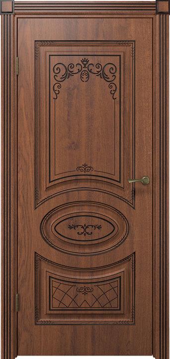 Дверь Вителия дуб янтарный патина
